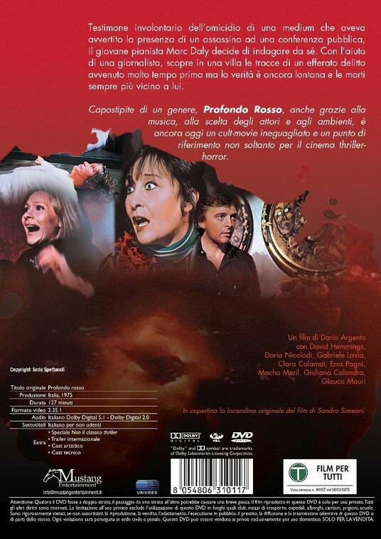 Profondo rosso (DVD) di Dario Argento - DVD - 2