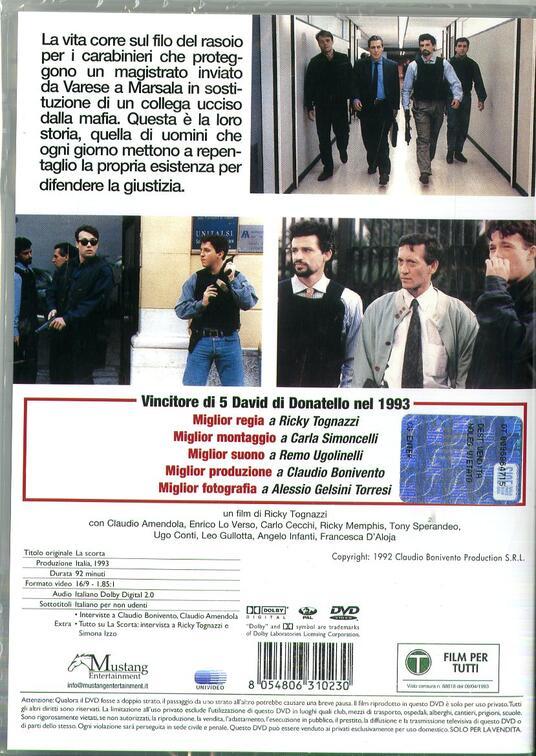 La scorta (DVD) di Ricky Tognazzi - DVD - 2