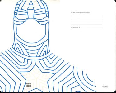 Cartoleria Taccuino Moleskine large a righe.Edizione limitata Marvel Captain America Moleskine 2