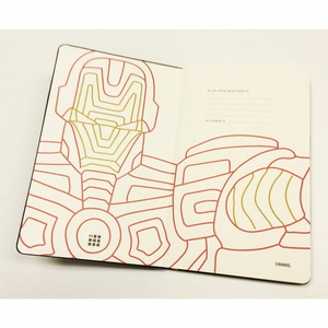 Cartoleria Taccuino Moleskine large a righe.Edizione limitata Marvel Iron Man Moleskine 2