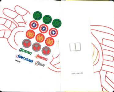 Cartoleria Taccuino Moleskine large a righe.Edizione limitata Marvel Iron Man Moleskine 3