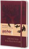 Cartoleria Taccuino Moleskine Harry Potter Limited Edition large a righe. Expecto Patronum. Rosso Moleskine