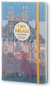 Cartoleria Taccuino Moleskine I Am Milan Limited Edition large a righe Moleskine