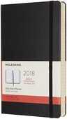 Cartoleria Agenda giornaliera 2018, 12 mesi, Moleskine large copertina rigida nera Moleskine