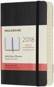 Cartoleria Agenda giornaliera 2018, 12 mesi, Moleskine pocket copertina morbida nera Moleskine