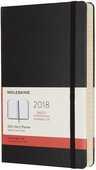 Cartoleria Agenda giornaliera 2018, 12 mesi, Moleskine large copertina morbida nera Moleskine