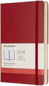 Cartoleria Agenda giornaliera 2018, 12 mesi, Moleskine large copertina rigida rossa Moleskine