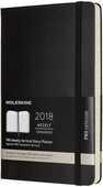 Cartoleria Agenda settimanale verticale PRO 2018, 12 mesi Moleskine large copertina rigida nera Moleskine