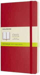 Taccuino Moleskine large a pagine bianche copertina morbida rossa