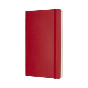 Taccuino Moleskine large a pagine bianche copertina morbida rossa - 2