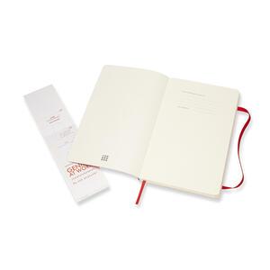 Taccuino Moleskine large a pagine bianche copertina morbida rossa - 3