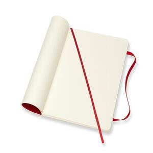 Taccuino Moleskine large a pagine bianche copertina morbida rossa - 4