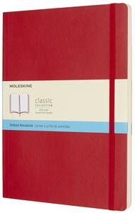 Taccuino Moleskine extra large puntinato copertina morbida rossa
