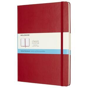 Taccuino Moleskine extra large puntinato copertina rigida rossa