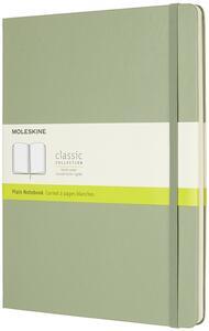 Taccuino Moleskine a pagine bianche copertina rigida verde