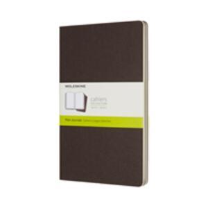 Cartoleria Quaderno Cahier Moleskine large a pagine bianche copertina marrone Moleskine