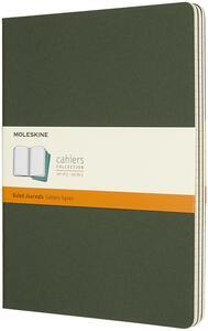 Quaderno Cahier Moleskine extra large a righe copertina verde