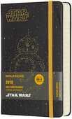 Cartoleria Agenda giornaliera 2018, 12 mesi, Moleskine pocket edizione limitata Star Wars. BB-8 Moleskine