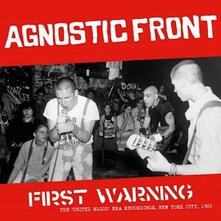 First Warning. The United Blood Era Recordings - Vinile LP di Agnostic Front