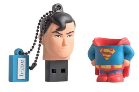 Tribe DC comics Superman unità flash USB 16 GB 2.0 Connettore USB di tipo A Multicolore - 3