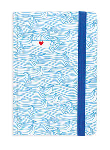 Cartoleria Photo Notebook Small a righe. Boat Legami
