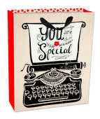 Cartoleria Sacchetto regalo Gift Bag Medium. Typewriter Legami