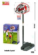 1eab6a9a7847 Canestro da Basket con Piantana e Tabellone Regolabile Giocare a  Pallacanestro