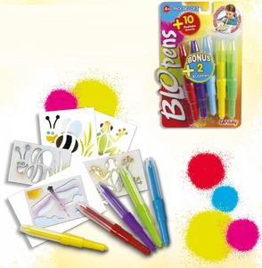 Giocattolo Blo Pens. 5 Penne + 10 Stencil Auguri Preziosi 0