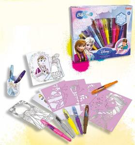 Blo Pens. Frozen. Activity Kit. 10 Penne + 6 Stencil + 3 Attivita'