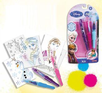 Giocattolo Blo Pens. Frozen. 3 Penne + 4 Stencil Auguri Preziosi
