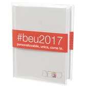 Cartoleria Diario BE-U Mini 2016-2017, 16 mesi. Bianco Auguri Preziosi