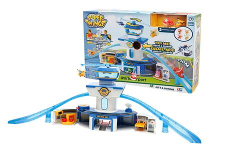 Super Wings. Playset Deluxe Torre di controllo. Con 2 Personaggi - 3