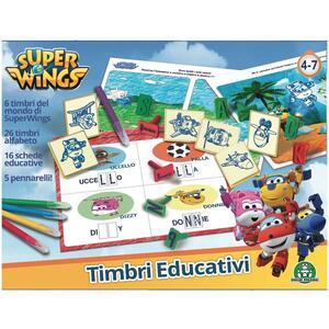 Super Wings. Set di Timbri Educativi