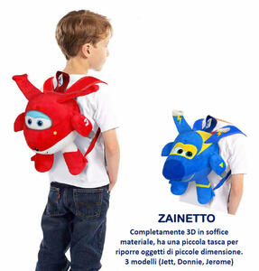 Super Wings - Zainetto 3D Peluche Con Tasca (Assortimento)