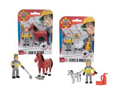 Sam Il Pompiere. Set Personaggio+Animale