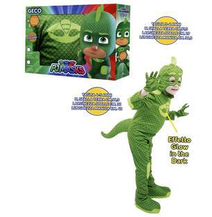 Più votati nuova versione 100% di alta qualità Super Pigiamini. Pj Masks. Costume Carnevale Geco