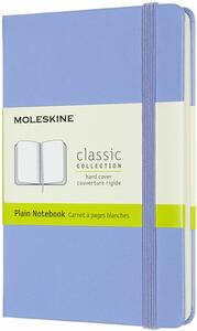 Cartoleria Taccuino Moleskine a pagine bianche Pocket copertina rigida Hydrangea. Blu Moleskine