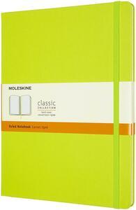 Cartoleria Taccuino Moleskine a righe X-Large copertina rigida Lemon. Verde Moleskine