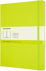 Cartoleria Taccuino Moleskine a pagine bianche X-Large copertina rigida Lemon. Verde Moleskine
