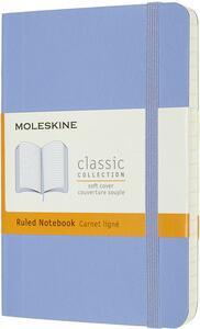Cartoleria Taccuino Moleskine a righe Pocket copertina morbida Hydrangea. Blu Moleskine