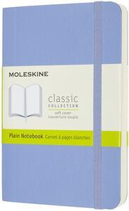 Cartoleria Taccuino Moleskine a pagine bianche Pocket copertina morbida Hydrangea. Blu Moleskine