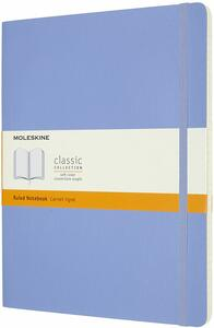 Cartoleria Taccuino Moleskine a righe X-Large copertina morbida Hydrangea. Blu Moleskine