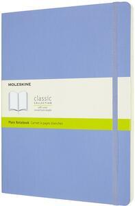 Cartoleria Taccuino Moleskine a pagine bianche X-Large copertina morbida Hydrangea. Blu Moleskine