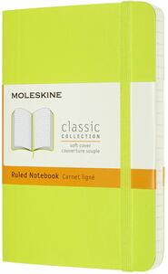 Cartoleria Taccuino Moleskine a righe Pocket copertina morbida Lemon. Verde Moleskine