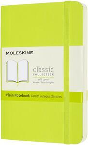 Cartoleria Taccuino Moleskine a pagine bianche Pocket copertina morbida Lemon. Verde Moleskine