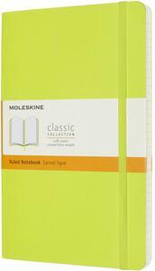 Cartoleria Taccuino Moleskine a righe Large copertina morbida Lemon. Verde Moleskine