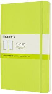 Cartoleria Taccuino Moleskine a pagine bianche Large copertina morbida Lemon. Verde Moleskine
