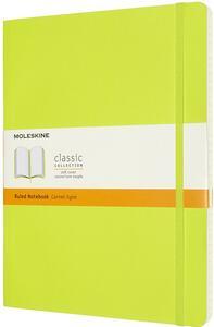 Cartoleria Taccuino Moleskine a righe X-Large copertina morbida Lemon. Verde Moleskine