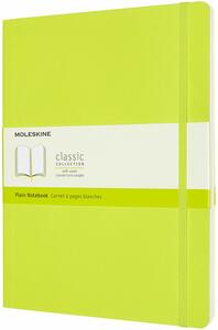 Cartoleria Taccuino Moleskine a pagine bianche X-Large copertina morbida Lemon. Verde Moleskine