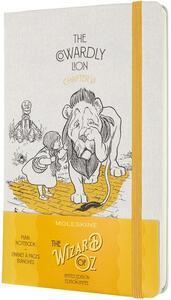 Cartoleria Taccuino Moleskine Wizard of Oz a pagine bianche Large Cowardly Lion. Giallo Moleskine